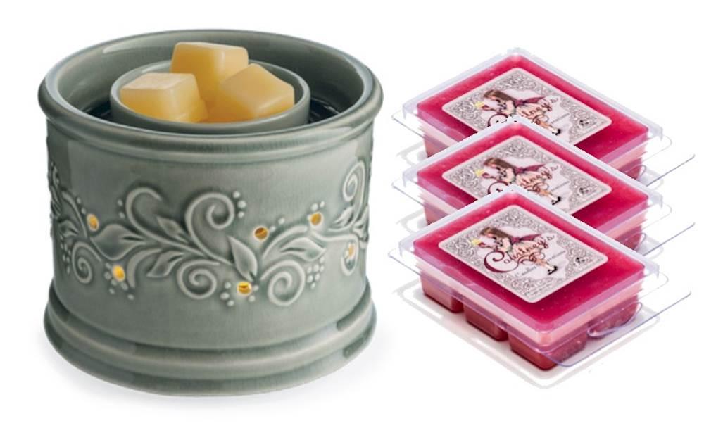 perennial fan fragrance warmer gift set